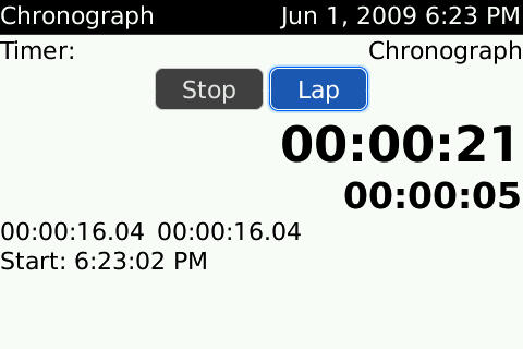 Chronograph free