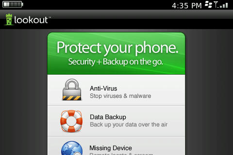 Lookout Backup free