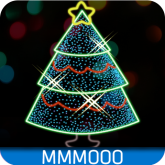 Animated Neon Christmas Theme free