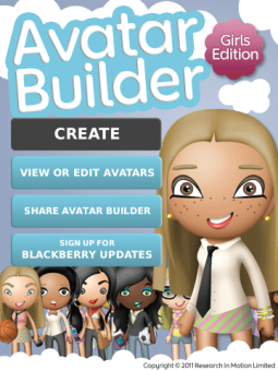 Download Avatar Builder Girls Edition free software for BlackBerry Smartphone