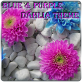 Blue_Purple Dahlia Theme free