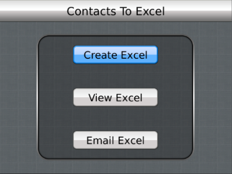 Contacts To Excel - Export contacts to Excel format Free