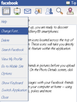 FaceFont - Font Changer for Facebook free download for BlackBerry Bold