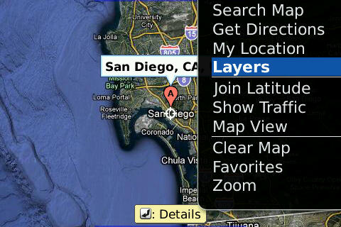 Google Maps mobile free download for BlackBerry Bold, Curve