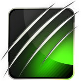 Stunning Black Steel(Green) Theme free
