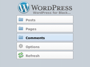 WordPress BlackBerry app